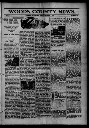 Primary view of object titled 'Woods County News. (Carmen, Okla.), Vol. 9, No. 10, Ed. 1 Friday, March 1, 1907'.