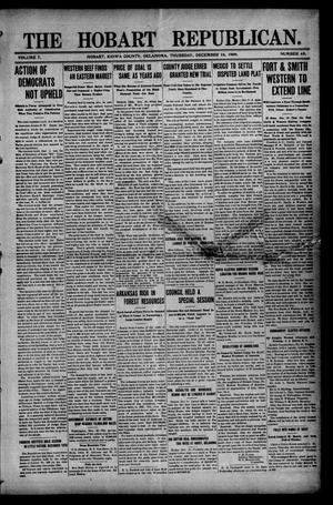 Primary view of object titled 'The Hobart Republican. (Hobart, Okla.), Vol. 7, No. 43, Ed. 1 Thursday, December 16, 1909'.
