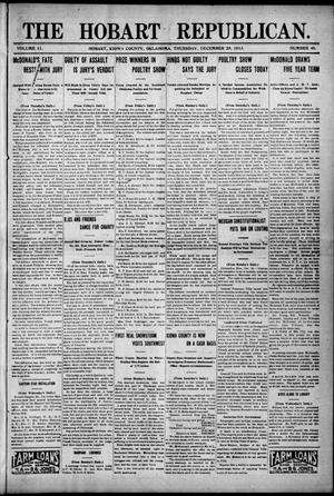 Primary view of object titled 'The Hobart Republican. (Hobart, Okla.), Vol. 11, No. 40, Ed. 1 Thursday, December 25, 1913'.