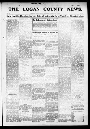 Primary view of object titled 'The Logan County News. (Crescent, Okla.), Vol. 10, No. 2, Ed. 1 Friday, November 22, 1912'.
