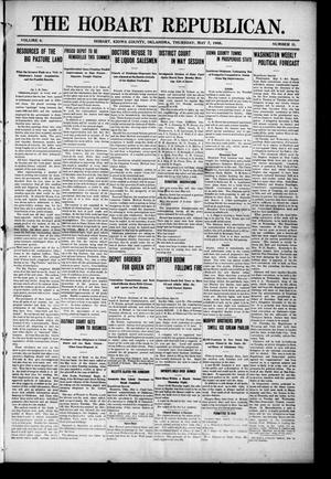 Primary view of object titled 'The Hobart Republican. (Hobart, Okla.), Vol. 6, No. 11, Ed. 1 Thursday, May 7, 1908'.