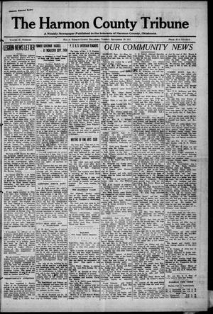 Primary view of object titled 'The Harmon County Tribune (Hollis, Okla.), Vol. 12, No. 5, Ed. 1 Tuesday, September 20, 1921'.