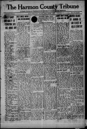 Primary view of object titled 'The Harmon County Tribune (Hollis, Okla.), Vol. 12, No. 8, Ed. 1 Tuesday, October 11, 1921'.
