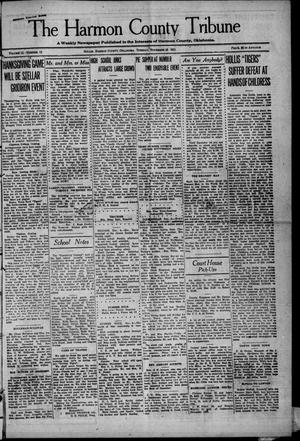 Primary view of object titled 'The Harmon County Tribune (Hollis, Okla.), Vol. 12, No. 13, Ed. 1 Tuesday, November 15, 1921'.