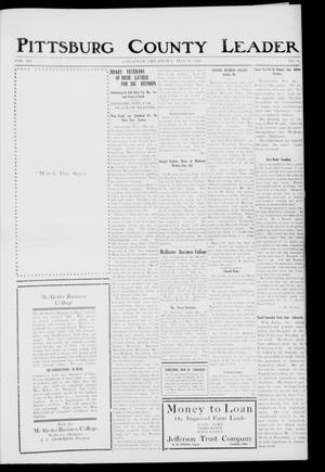 Primary view of object titled 'Pittsburg County Leader (Canadian, Okla.), Vol. 3, No. 8, Ed. 1 Friday, May 30, 1913'.
