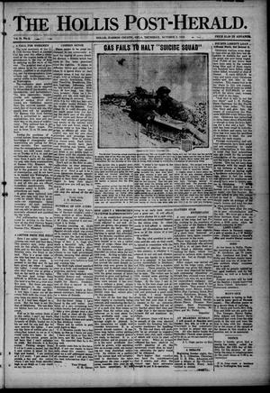Primary view of object titled 'The Hollis Post-Herald. (Hollis, Okla.), Vol. 16, No. 4, Ed. 1 Thursday, October 3, 1918'.