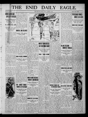 Primary view of object titled 'The Enid Daily Eagle. (Enid, Okla.), Vol. 9, No. 223, Ed. 1 Monday, October 3, 1910'.
