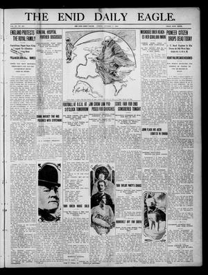 Primary view of object titled 'The Enid Daily Eagle. (Enid, Okla.), Vol. 9, No. 227, Ed. 1 Friday, October 7, 1910'.
