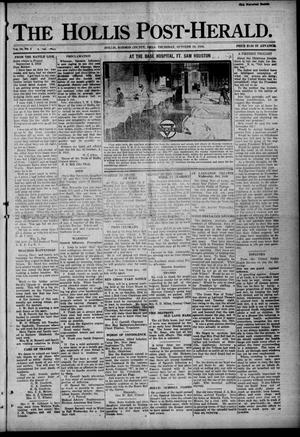 Primary view of object titled 'The Hollis Post-Herald. (Hollis, Okla.), Vol. 16, No. 5, Ed. 1 Thursday, October 10, 1918'.