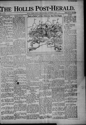 Primary view of object titled 'The Hollis Post-Herald. (Hollis, Okla.), Vol. 16, No. 2, Ed. 1 Wednesday, September 18, 1918'.