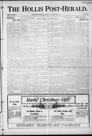 Primary view of object titled 'The Hollis Post-Herald. (Hollis, Okla.), Vol. 13, No. 18, Ed. 1 Thursday, December 16, 1915'.
