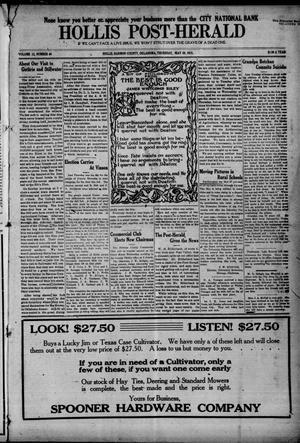 Primary view of Hollis Post-Herald (Hollis, Okla.), Vol. 12, No. 40, Ed. 1 Thursday, May 20, 1915