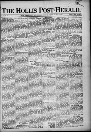 Primary view of object titled 'The Hollis Post-Herald. (Hollis, Okla.), Vol. 15, No. 45, Ed. 1 Thursday, July 18, 1918'.