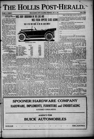 Primary view of The Hollis Post-Herald. (Hollis, Okla.), Vol. 15, No. 9, Ed. 1 Wednesday, October 31, 1917