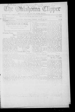 Primary view of object titled 'The Oklahoma Clipper (Indianola, Okla.), Vol. 1, No. 41, Ed. 1 Friday, September 26, 1913'.