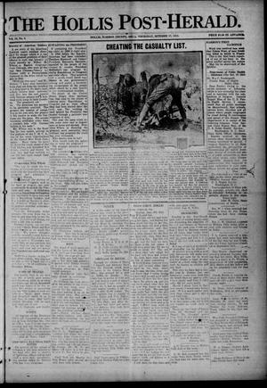 Primary view of object titled 'The Hollis Post-Herald. (Hollis, Okla.), Vol. 16, No. 6, Ed. 1 Thursday, October 17, 1918'.