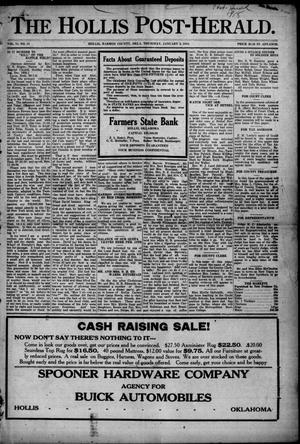 Primary view of The Hollis Post-Herald. (Hollis, Okla.), Vol. 15, No. 18, Ed. 1 Thursday, January 3, 1918