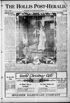 Primary view of object titled 'The Hollis Post-Herald. (Hollis, Okla.), Vol. 13, No. 19, Ed. 1 Thursday, December 23, 1915'.