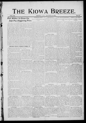 Primary view of The Kiowa Breeze. (Kiowa, Indian Terr.), Vol. 3, No. 23, Ed. 1 Friday, August 26, 1904