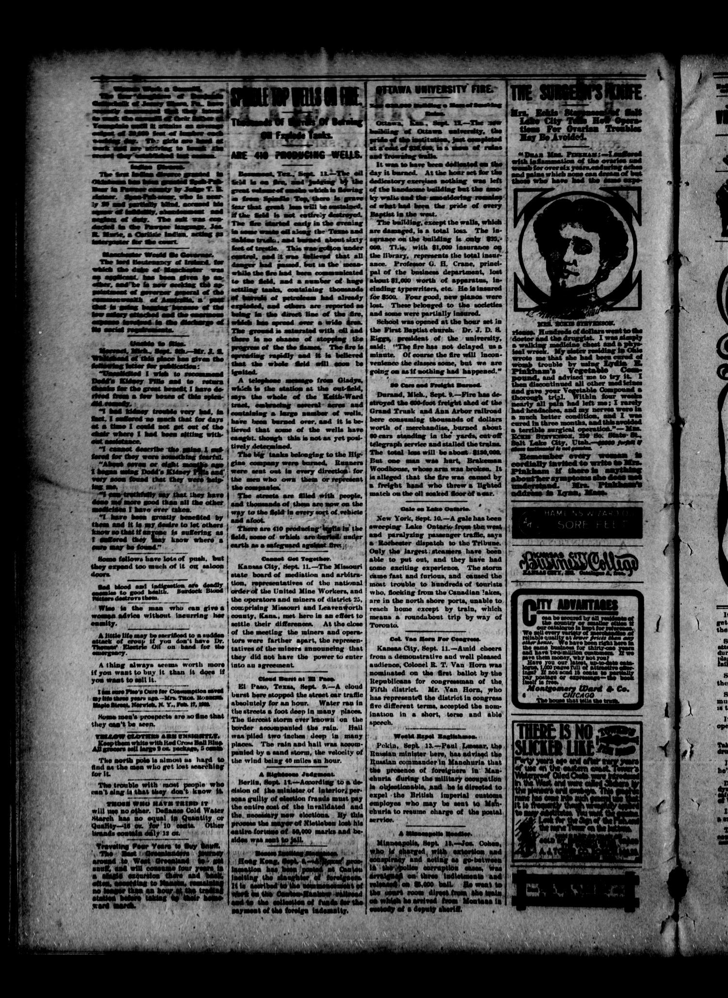 The Cushing Herald. (Cushing, Okla. Terr.), Vol. 8, No. 11, Ed. 1 Friday, September 19, 1902                                                                                                      [Sequence #]: 2 of 8