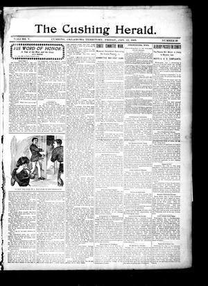 Primary view of The Cushing Herald. (Cushing, Okla. Terr.), Vol. 5, No. 26, Ed. 1 Friday, January 12, 1900