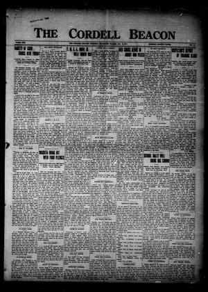 Primary view of The Cordell Beacon (Cordell, Okla.), Vol. 21, No. 17, Ed. 1 Thursday, November 8, 1917