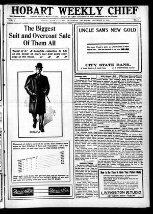 Primary view of Hobart Weekly Chief (Hobart, Okla.), Vol. 8, No. 14, Ed. 1 Thursday, December 24, 1908