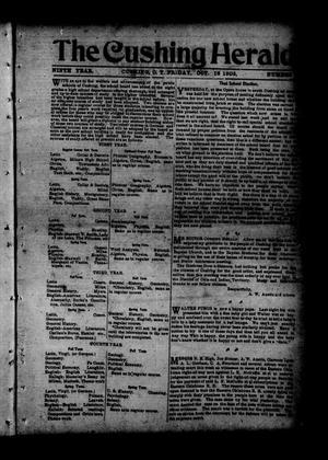 The Cushing Herald. (Cushing, Okla. Terr.), Vol. 9, Ed. 1 Friday, October 16, 1903, The Herald