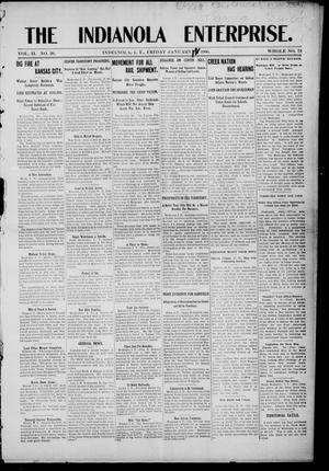Primary view of The Indianola Enterprise. (Indianola, Indian Terr.), Vol. 2, No. 20, Ed. 1 Friday, January 12, 1906