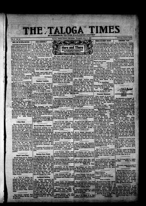 Primary view of object titled 'The Taloga Times (Taloga, Okla.), Vol. 9, No. 21, Ed. 1 Thursday, August 19, 1920'.
