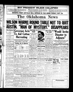 Primary view of object titled 'The Oklahoma News (Oklahoma City, Okla.), Vol. 14, Ed. 1 Wednesday, October 22, 1919'.
