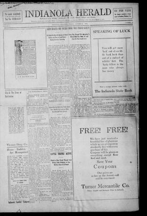 Primary view of object titled 'Indianola Herald (Indianola, Okla.), Vol. 1, No. 29, Ed. 1 Friday, October 6, 1911'.
