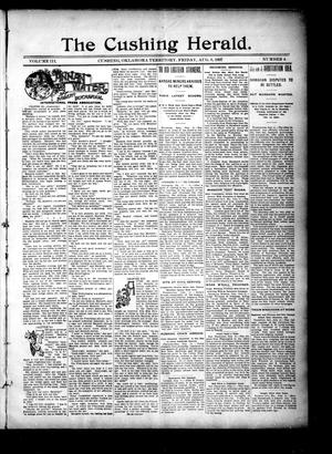 Primary view of The Cushing Herald. (Cushing, Okla. Terr.), Vol. 3, No. 4, Ed. 1 Friday, August 6, 1897
