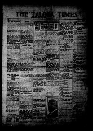 Primary view of object titled 'The Taloga Times (Taloga, Okla.), Vol. 8, Ed. 1 Thursday, February 26, 1920'.