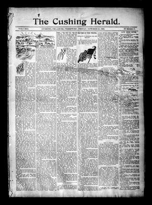 Primary view of object titled 'The Cushing Herald. (Cushing, Okla. Terr.), Vol. 1, No. 17, Ed. 1 Friday, October 25, 1895'.
