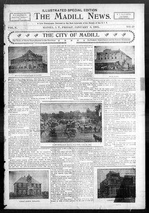 Primary view of object titled 'The Madill News. (Madill, Indian Terr.), Vol. 10, No. 25, Ed. 1 Friday, January 6, 1905'.