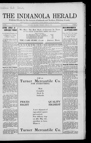 Primary view of object titled 'The Indianola Herald (Indianola, Okla.), Vol. 1, No. 6, Ed. 1 Thursday, April 27, 1911'.