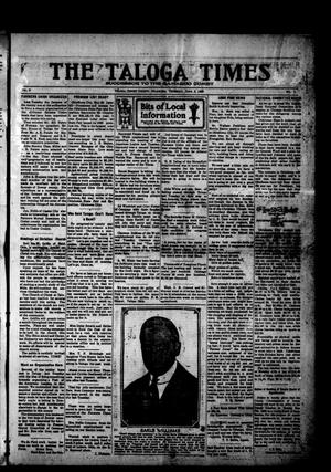 Primary view of object titled 'The Taloga Times (Taloga, Okla.), Vol. 9, No. 9, Ed. 1 Thursday, June 3, 1920'.