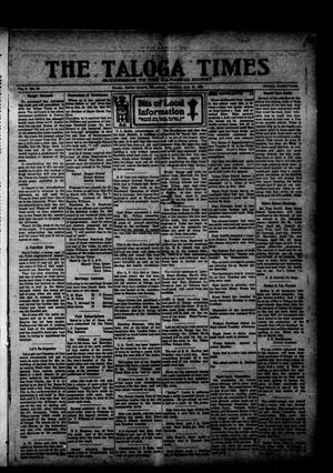 Primary view of object titled 'The Taloga Times (Taloga, Okla.), Vol. 9, No. 52, Ed. 1 Thursday, March 24, 1921'.