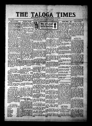 Primary view of object titled 'The Taloga Times (Taloga, Okla.), Vol. 9, No. 51, Ed. 1 Thursday, March 17, 1921'.