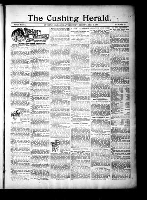 Primary view of object titled 'The Cushing Herald. (Cushing, Okla. Terr.), Vol. 3, No. 21, Ed. 1 Friday, December 3, 1897'.