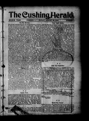 Primary view of object titled 'The Cushing Herald. (Cushing, Okla. Terr.), Vol. 8, No. 8, Ed. 1 Friday, August 29, 1902'.