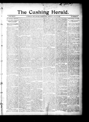 Primary view of object titled 'The Cushing Herald. (Cushing, Okla. Terr.), Vol. 2, No. 30, Ed. 1 Friday, January 22, 1897'.