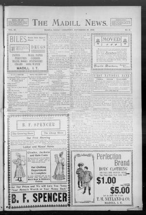 Primary view of object titled 'The Madill News. (Madill, Indian Terr.), Vol. 11, No. 11, Ed. 1 Friday, September 29, 1905'.