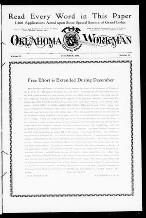Primary view of object titled 'The Oklahoma Workman (Guthrie, Okla.), Vol. 16, No. 12, Ed. 1 Friday, December 1, 1911'.