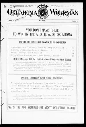 Primary view of object titled 'The Oklahoma Workman (Guthrie, Okla.), Vol. 13, No. 5, Ed. 1 Friday, May 1, 1908'.