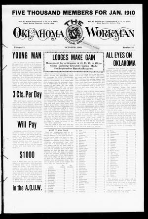 Primary view of object titled 'The Oklahoma Workman (Guthrie, Okla.), Vol. 14, No. 10, Ed. 1 Friday, October 1, 1909'.