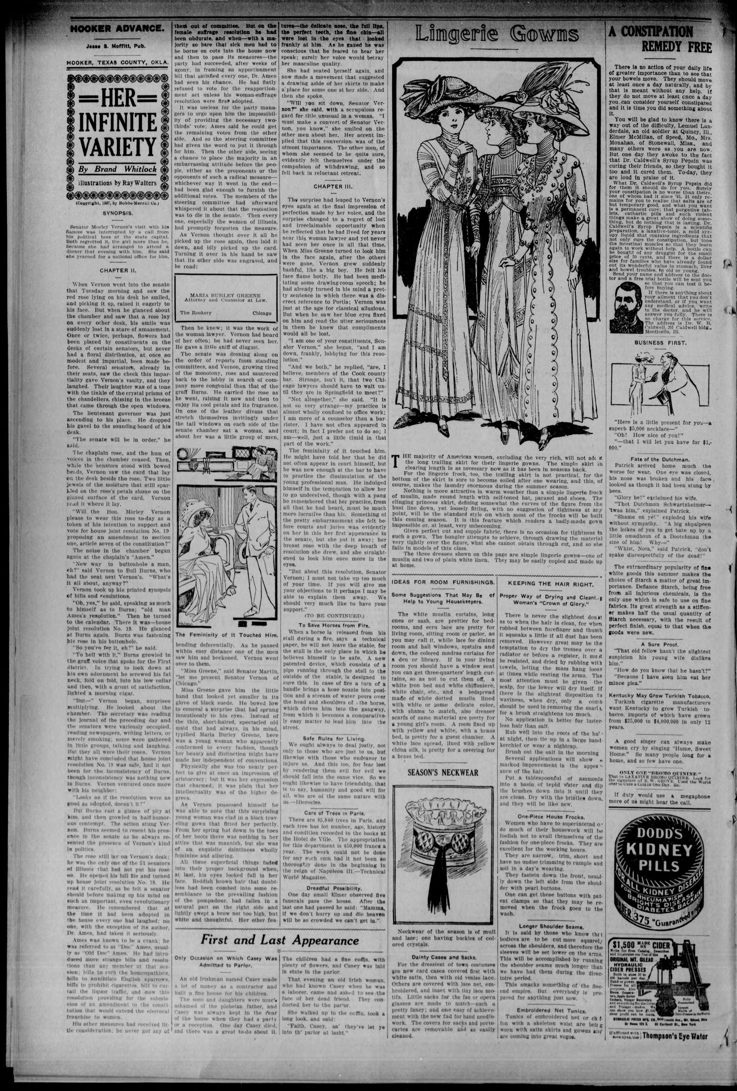 Hooker Advance (Hooker, Okla.), Vol. 6, No. 9, Ed. 1 Friday, April 9, 1909                                                                                                      [Sequence #]: 2 of 8
