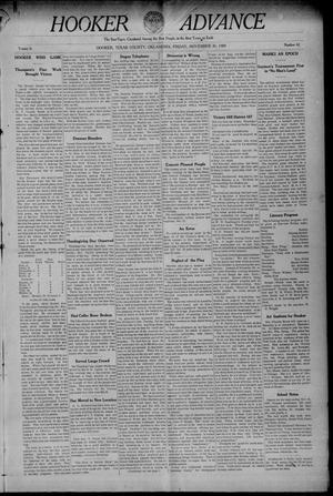 Primary view of Hooker Advance (Hooker, Okla.), Vol. 6, No. 42, Ed. 1 Friday, November 26, 1909