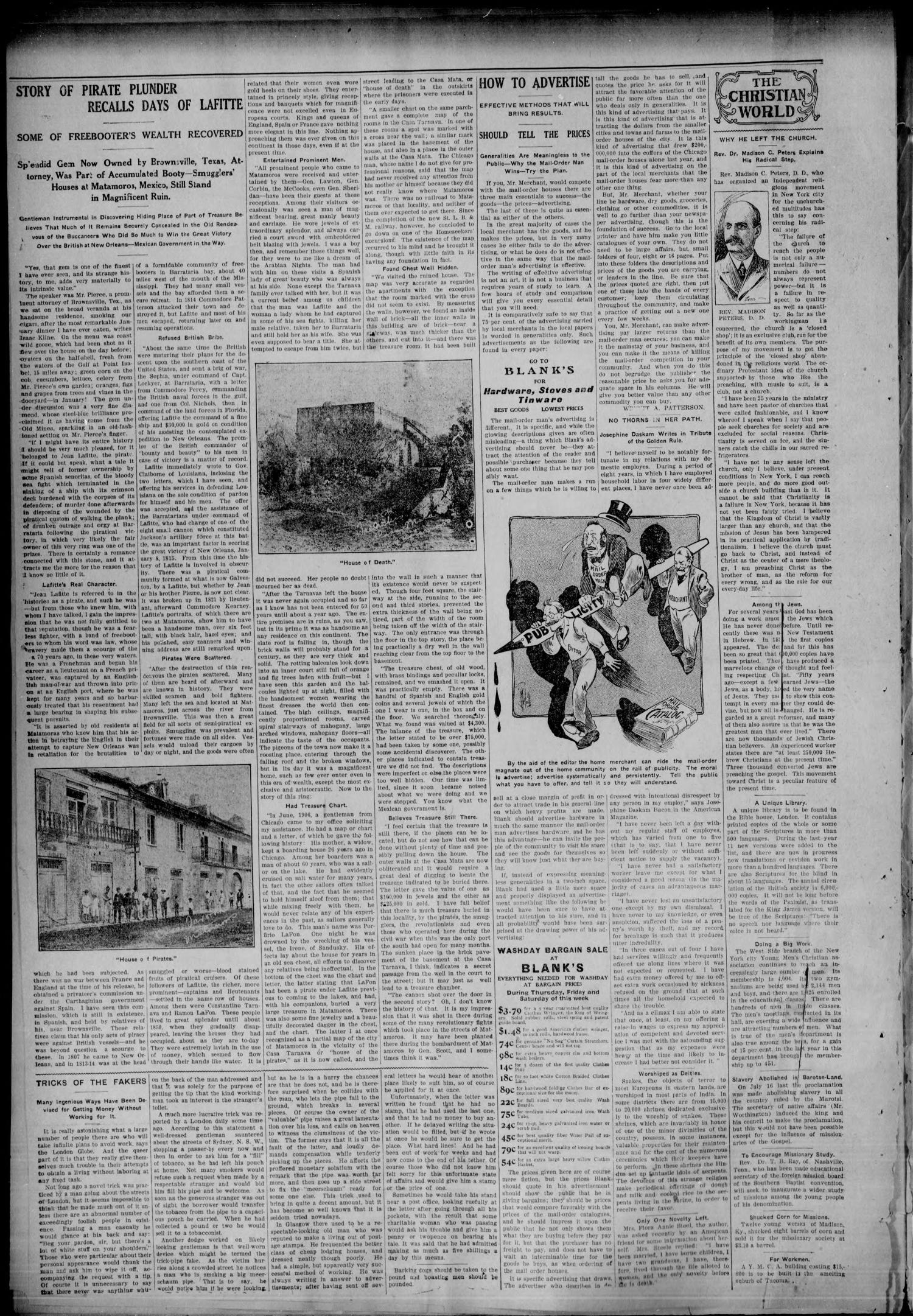 The Hooker Advance (Hooker, Okla.), Vol. 4, No. 10, Ed. 1 Friday, April 19, 1907                                                                                                      [Sequence #]: 6 of 8